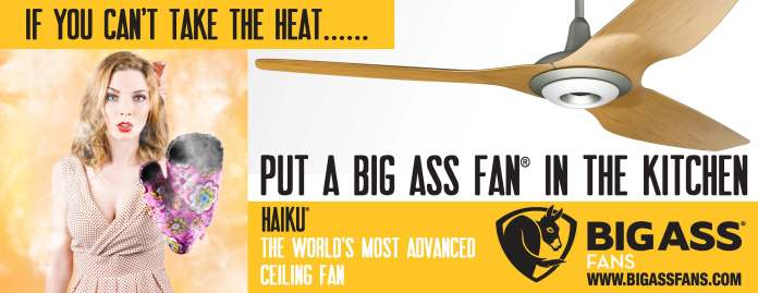 Banner Ad for campaign for promoting ceiling fans in the kitchen.