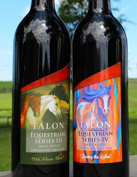 Talon Wine Equestrian Series Wine Labels